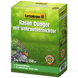 Rasendünger & Unkrautvernichter, 3 kg, für 150 m², schützt vor Unkraut & Nährstoffmangel