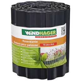 WINDHAGER Rasenkante, HxL: 15 x 900 cm, Kunststoff