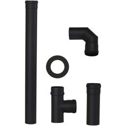 COLOR EMAJL Rauchrohr-Set, ØxL: 8 x 25 cm, Stärke: 2 mm, Stahl