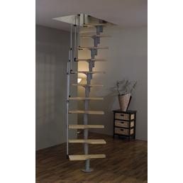 MINKA Raumspartreppe »Twister«, Birke, Silber, bis 294 cm Raumhöhe