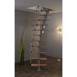 MINKA Raumspartreppe »Twister«, Buche, Silber, bis 294 cm Raumhöhe