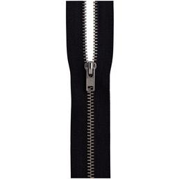 Gründl Reißverschluß, schwarz, Polyester/Messing