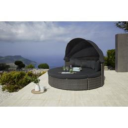 MERXX Relaxinsel »Riva«, BxTxH: 162  x 83  x 83  cm, Aluminium/ Kunststoffgeflecht