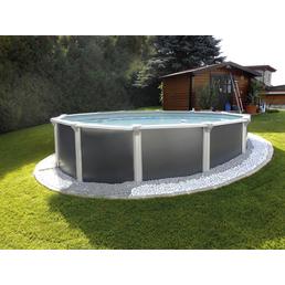 KWAD Rundpool Set »Steely Supreme Design «, rund, Ø x H: 550 x 132 cm