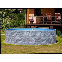 MYPOOL Rundpool, steinfarben, ØxH: 450 x 90 cm