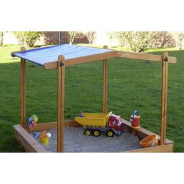 PROMADINO Sandkasten-Dach »Multi«, BxL: 140 x 140 cm, kiefernholz|polyethylen_pe honigbraun