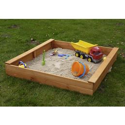 PROMADINO Sandkasten »Multi«, BxL: 140 x 140 cm, Kiefernholz honigbraun