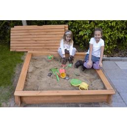 PROMADINO Sandkasten »Tessa«, BxL: 100 x 100 cm, Kiefernholz honigbraun