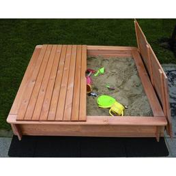 PROMADINO Sandkasten »Tessa«, BxL: 140 x 140 cm, Kiefernholz honigbraun