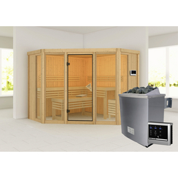 KARIBU Sauna »Alcinda« inkl. 9 kW Saunaofen mit externer Steuerung für 5 Personen