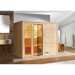 WEKA Sauna »Bergen« inkl. 7.5 kW Bio-Kombi-Saunaofen mit externer Steuerung für 5 Personen