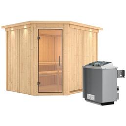 KARIBU Sauna »Haaspsalu« mit Ofen, integrierte Steuerung