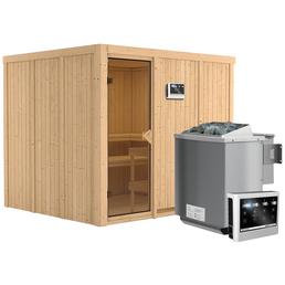 KARIBU Sauna »Jöhvi« inkl. 9 kW Bio-Kombi-Saunaofen mit externer Steuerung für 4 Personen