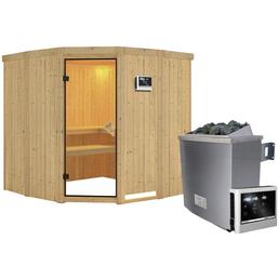 KARIBU Sauna »Keila 1«, BxTxH: 196 x 196 x 196 cm, 9 kw, Saunaofen, ext. Steuerung