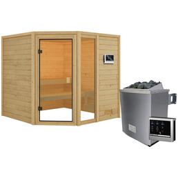 WOODFEELING Sauna »Malyn« inkl. 4.5 kW Saunaofen mit externer Steuerung für 4 Personen