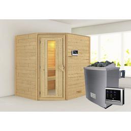 Sauna »Mia«, inkl. 9 kW Saunaofen mit externer Steuerung für 3 Personen