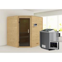 WOODFEELING Sauna »Mia« mit Ofen, externe Steuerung