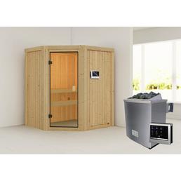 WOODFEELING Sauna »Otta«, inkl. 9 kW Saunaofen mit externer Steuerung für 3 Personen