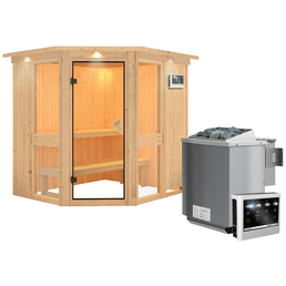 KARIBU Sauna »Pölva 1« mit Ofen, externe Steuerung