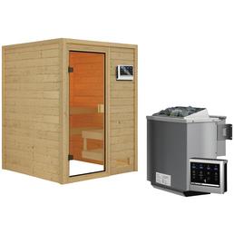 WOODFEELING Sauna »Siljana« inkl. 4.5 kW Bio-Kombi-Saunaofen mit externer Steuerung für 4 Personen