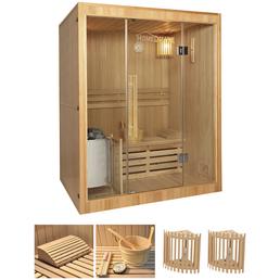 HOME DELUXE Sauna »Skyline L«, BxTxH: 150 x 120 x 120 cm, 3,5 kw, Saunaofen, int. Steuerung