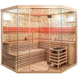 HOME DELUXE Sauna »Skyline XL BIG Kunststeinwand«, BxTxH: 200 x 200 x 200 cm, 8 kw, Saunaofen, int. Steuerung
