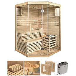 HOME DELUXE Sauna »Skyline XL«, BxTxH: 150 x 140 x 140 cm, 6 kw, Saunaofen, int. Steuerung
