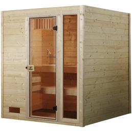 WEKA Sauna »VALIDA PLUS« inkl. 9 kW Saunaofen mit integrierter Steuerung für 2 Personen