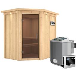 Sauna »Vijandi«, inkl. 9 kW Bio-Kombi-Saunaofen mit externer Steuerung für 3 Personen