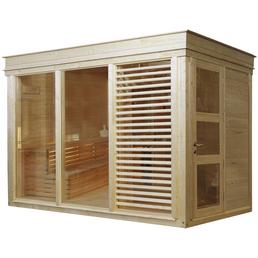 WOLFF FINNHAUS Saunahaus »Paradiso«, BxTxH: 329 x 229 x 261 cm, ohne Ofen