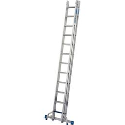 KRAUSE Schiebeleiter »STABILO + S«, 12 Stufen, Aluminium