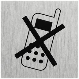 """SEILFLECHTER Schild, """"Handy ausschalten"""", BxH: 6 x 6 cm"""