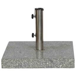 SIENA GARDEN Schirmständer, Edelstahl/Granit, BxHxL: 50 x 9 x 50 cm