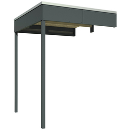 SKANHOLZ Schleppdach »Sydney, Perth, Melbourne, Brisbane 2«, Breite: 168 cm, Dach: Holz, schiefergrau
