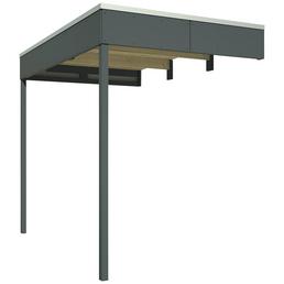 SKANHOLZ Schleppdach »Sydney, Perth, Melbourne, Brisbane 3 + 4«, Breite: 168 cm, Dach: Holz, schiefergrau