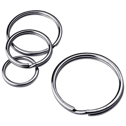 GECCO Schlüsselring, Stahl, 10 Stück