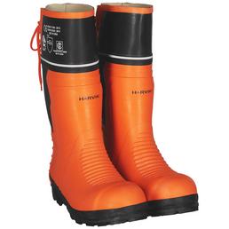 Harvik Schnittschutz-Stiefel, orange/schwarz, Naturkautschuk/Gummi