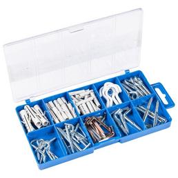 CONNEX Schraubhaken-Set, Stahl, geeignet für verschiedene Befestigungen