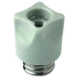 Schraubkappe, E16, Porzellan, weiß