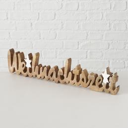 BOLTZE Schriftzug »Dekoaufsteller Weihnachtszeit«, BxH: 2,5 x 10 cm, Holz, mehrfarbig