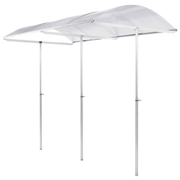 BECKMANN Schutzdach »Standard«, Breite: 112 cm, Dach: Polycarbonat-Doppelstegplatten, aluminiumfarben