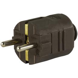 REV Schutzkontakt-Stecker, 250 V, Braun