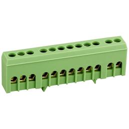 SLS-ELEKTRO Schutzleiterklemme, Kunststoff, Grün, LxB: 8,8 x 2,6 cm, für Normtragschienen