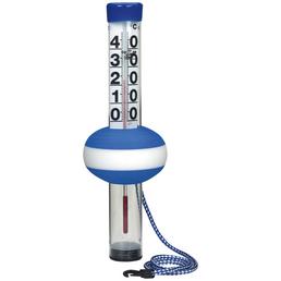 SUMMER FUN Schwimmbadthermometer »Neptun«, Kunststoff, blau/weiß