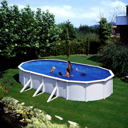 Schwimmbecken »Steely de Luxe heat «,  oval, B x L x H: 80 x 145 x 120 cm