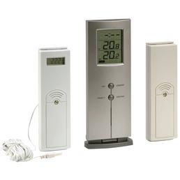 WATERMAN Schwimmthermometer, Kunststoff, weiß/grau, geeignet für: Schwimmbecken