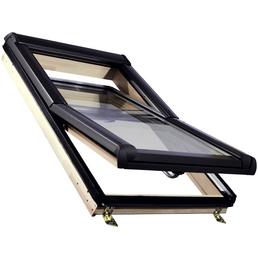 RORO Schwing-Dachfenster »«, Einscheibensicherheitsglas, innen braun, Kiefer