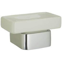 HACEKA Seifenablage »Aline«, Metall/Keramik, poliert, silberfarben/weiß