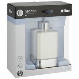 HACEKA Seifenspender »Aline«, Metall, poliert, weiß