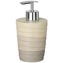 WENKO Seifenspender »Cuzco«, Polyresin, geriffelt, grau/beige